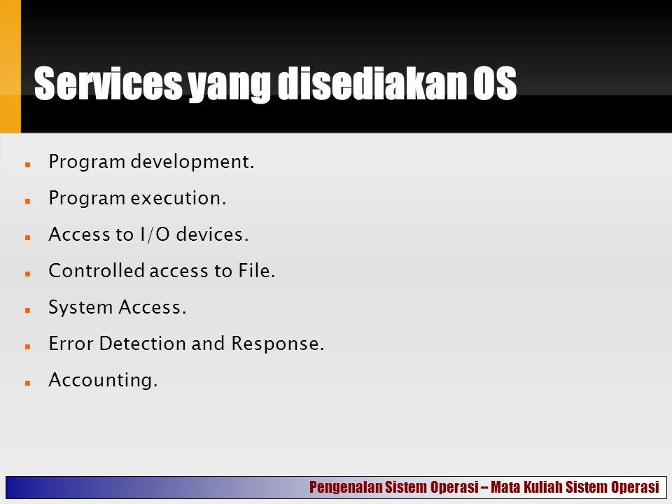 Services yang disediakan OS