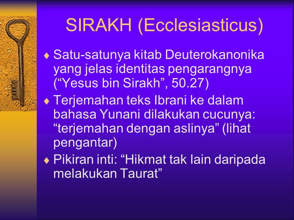 SIRAKH (Ecclesiasticus)