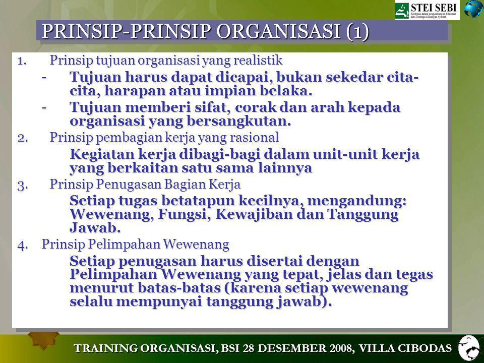 PRINSIP-PRINSIP ORGANISASI (1)