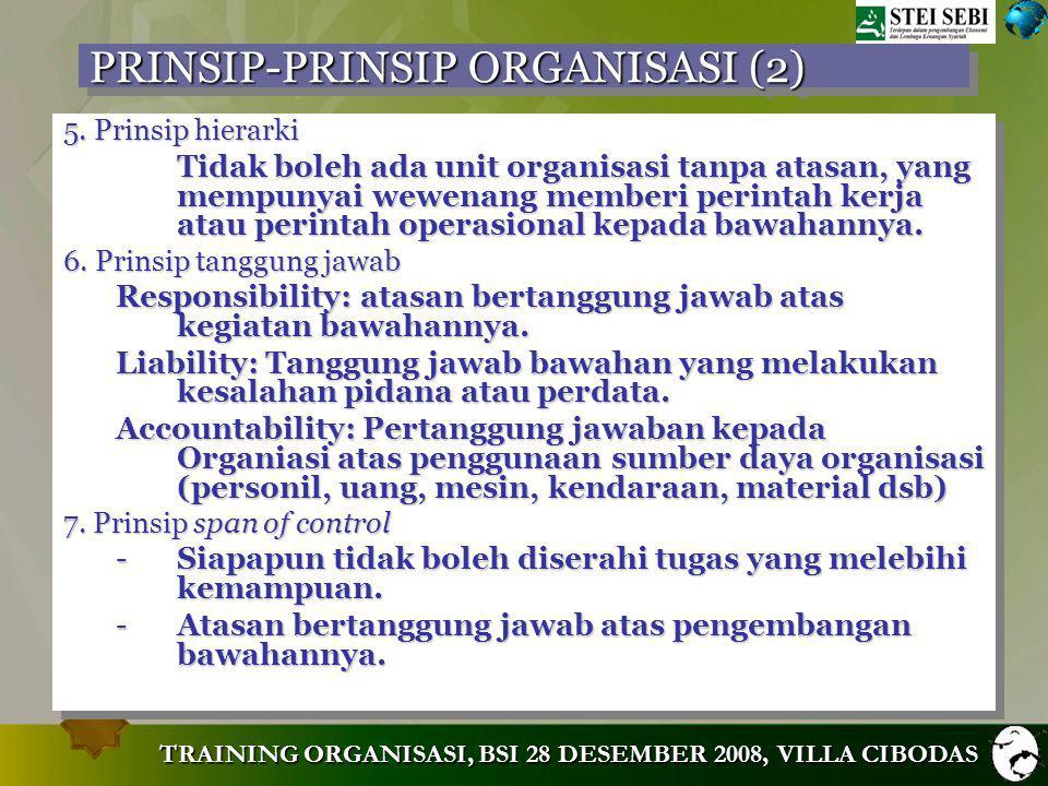 PRINSIP-PRINSIP ORGANISASI (2)