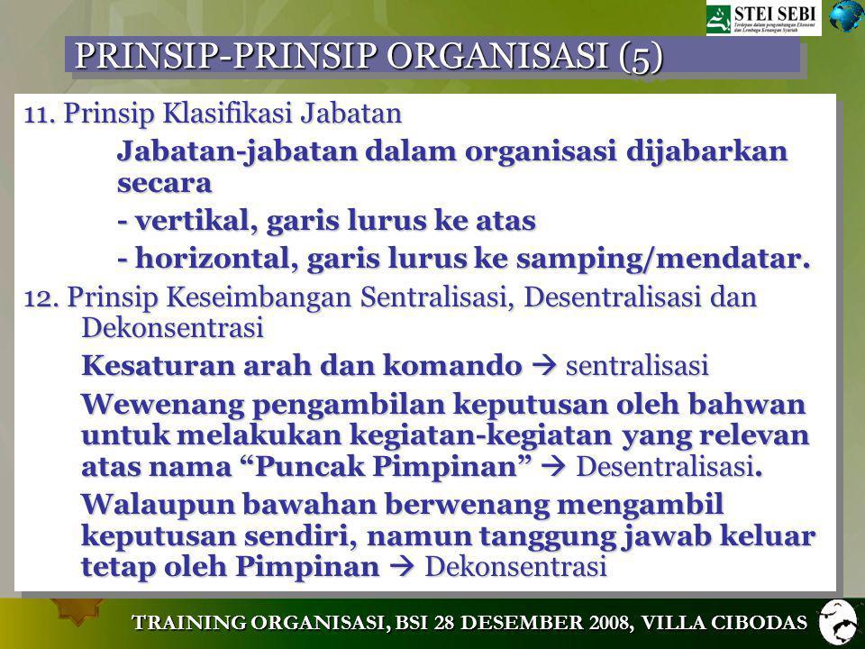 PRINSIP-PRINSIP ORGANISASI (5)