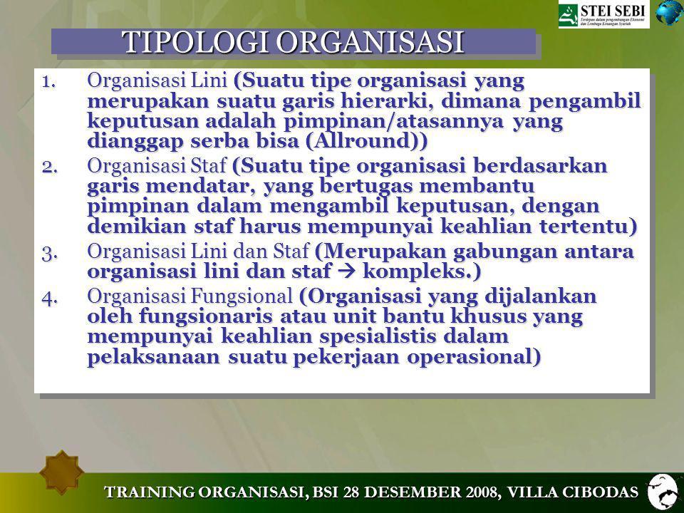 TIPOLOGI ORGANISASI