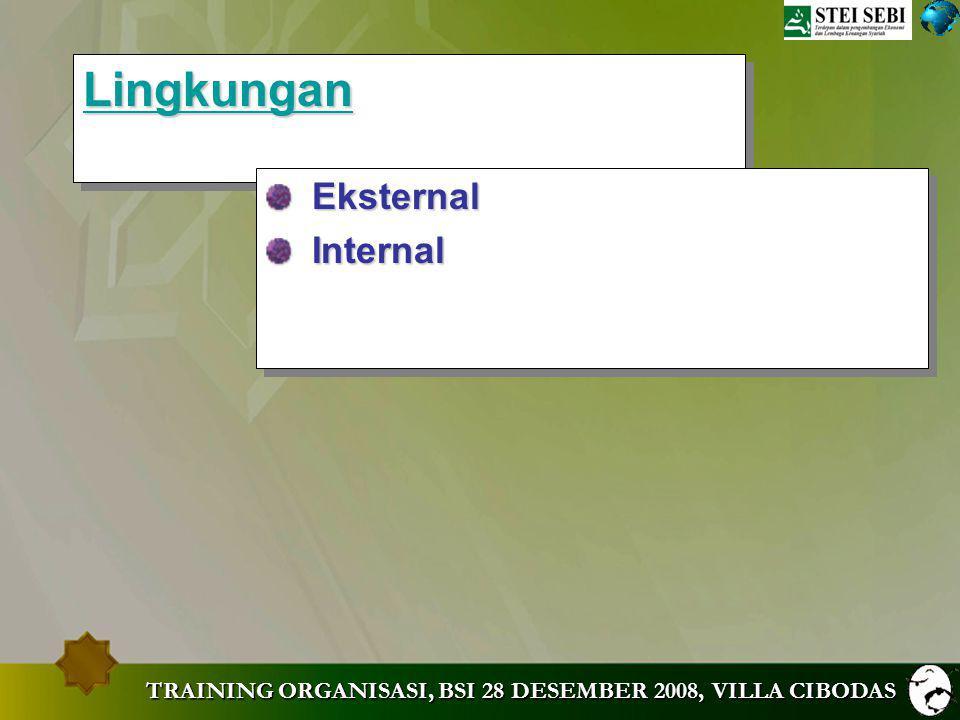 Lingkungan Eksternal Internal