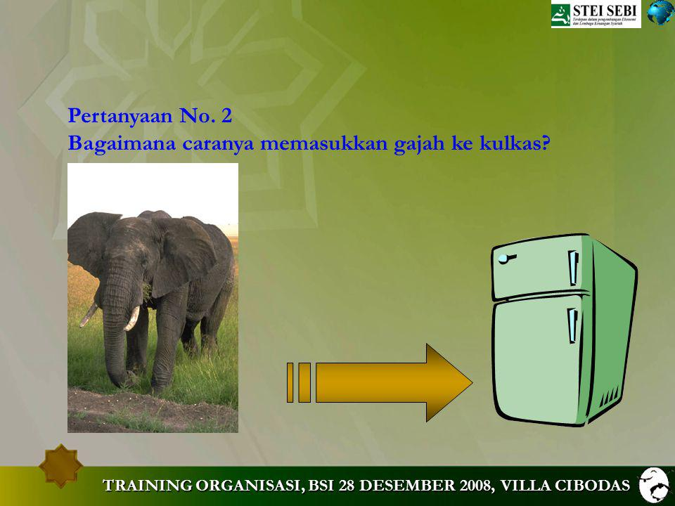 Bagaimana caranya memasukkan gajah ke kulkas