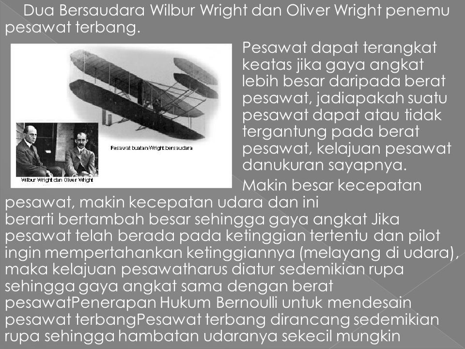 Dua Bersaudara Wilbur Wright dan Oliver Wright penemu pesawat terbang