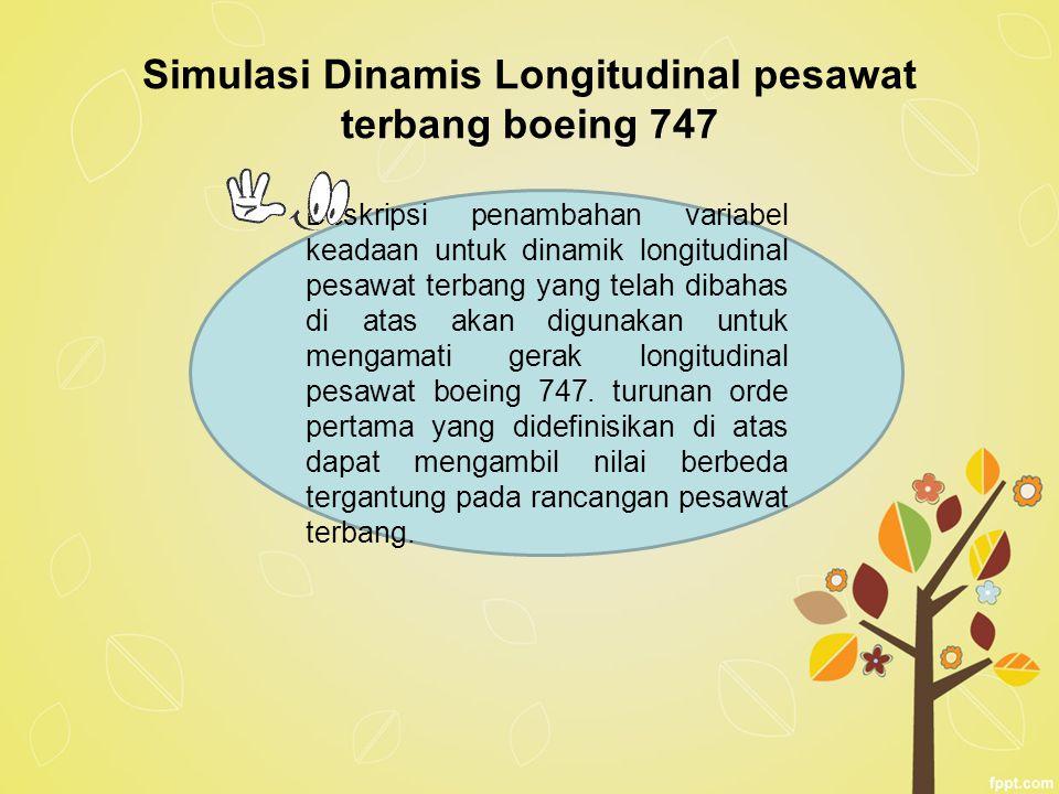 Simulasi Dinamis Longitudinal pesawat terbang boeing 747