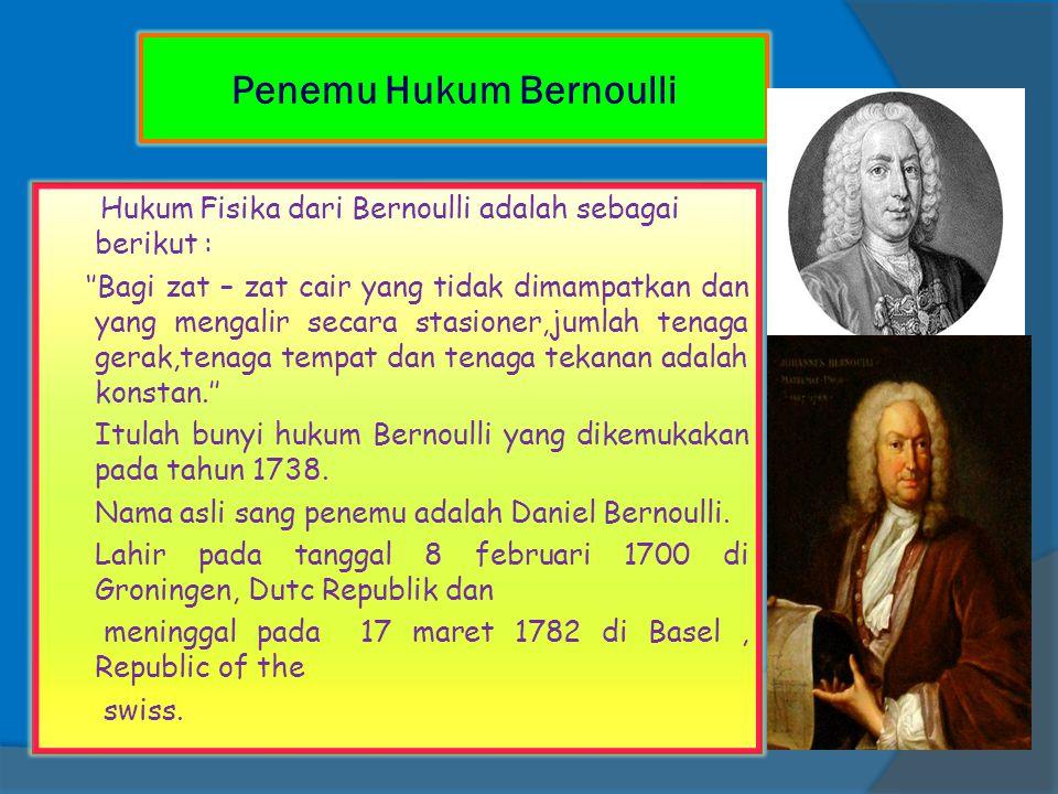 Penemu Hukum Bernoulli