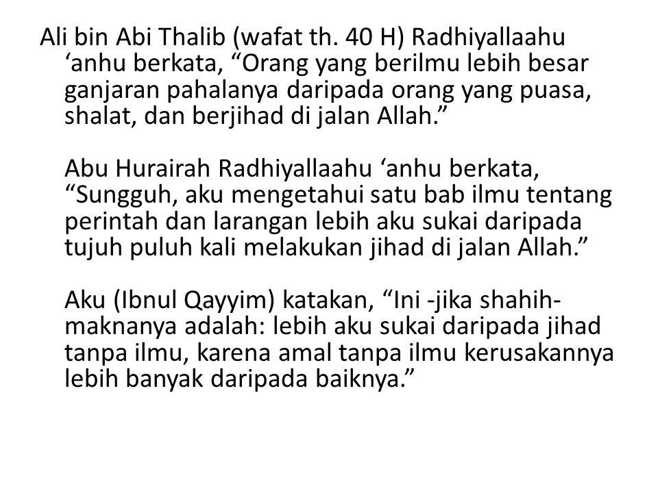Ali bin Abi Thalib (wafat th