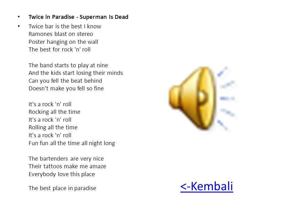 Twice in Paradise - Superman Is Dead