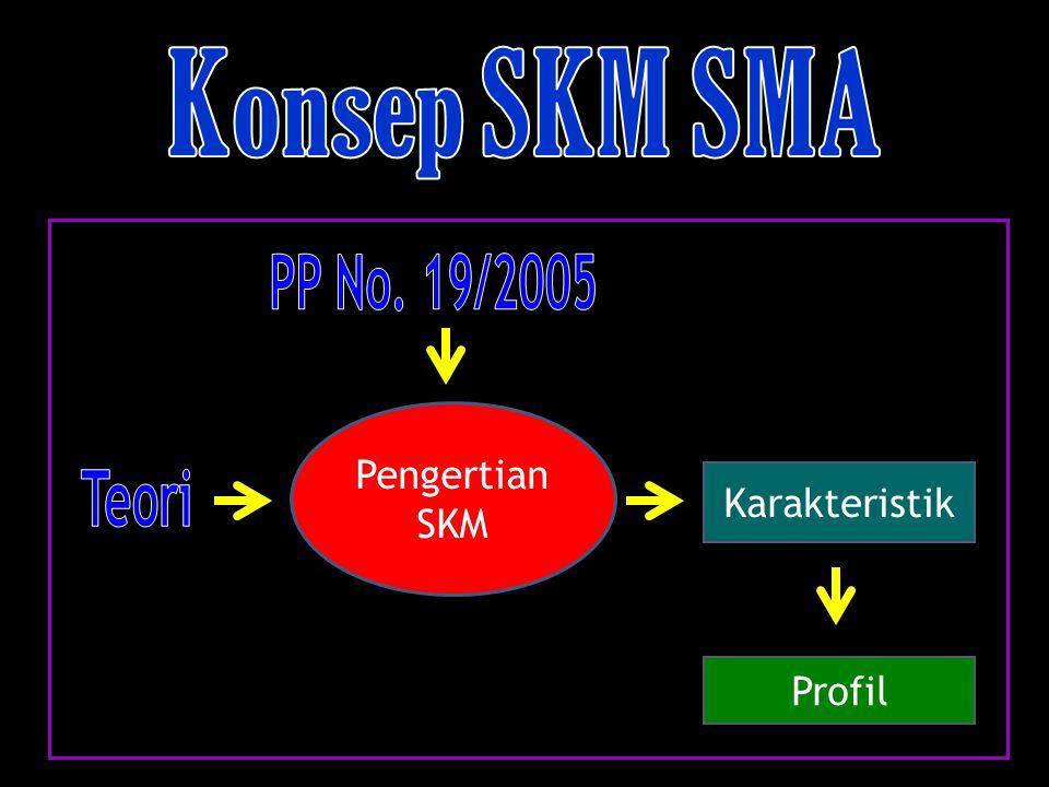 Konsep SKM SMA PP No. 19/2005 Teori Pengertian SKM Karakteristik
