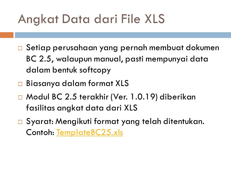 Angkat Data dari File XLS