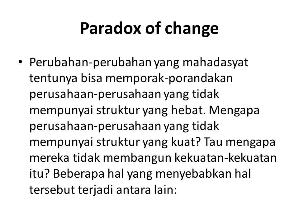 Paradox of change