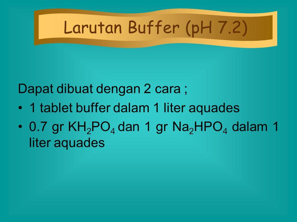 Larutan Buffer (pH 7.2) Dapat dibuat dengan 2 cara ;