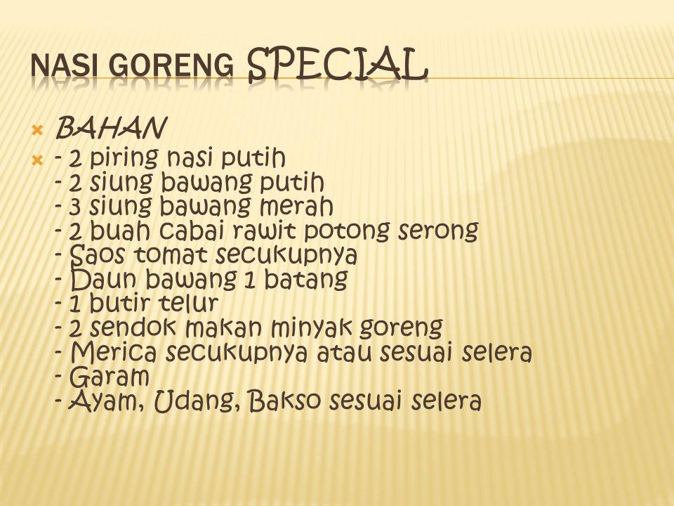 Nasi goreng special BAHAN