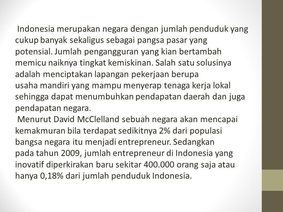 Indonesia merupakan negara dengan jumlah penduduk yang