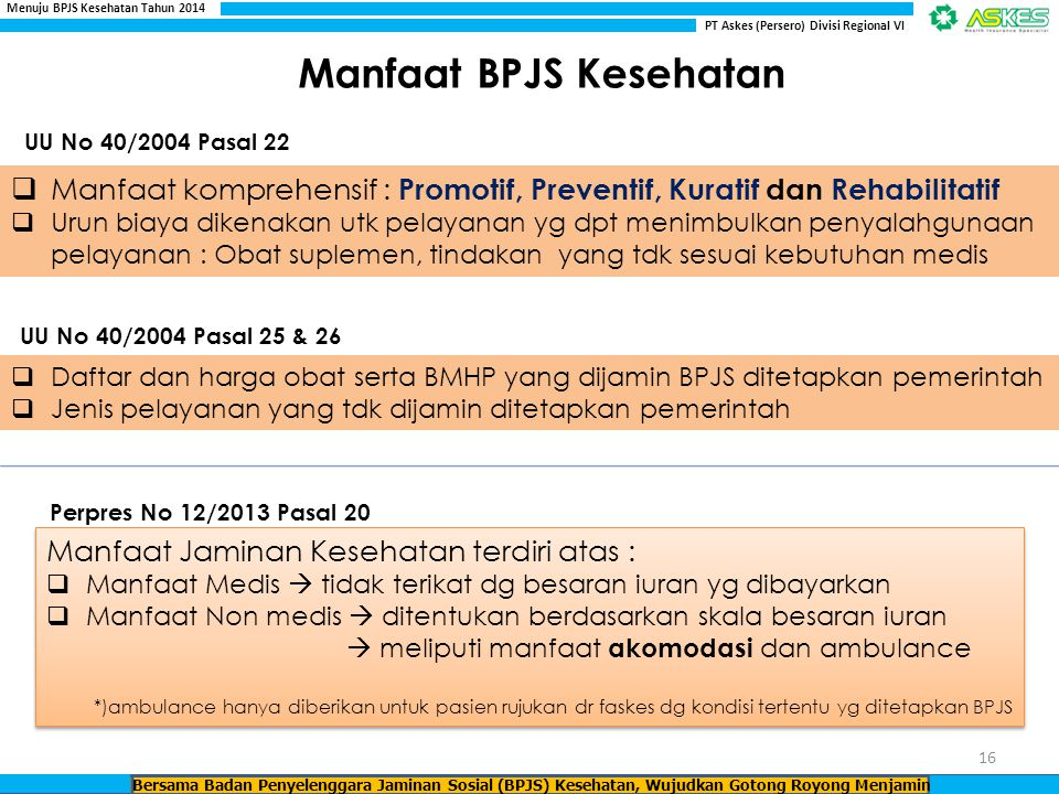 Manfaat BPJS Kesehatan