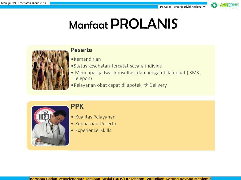 Manfaat PROLANIS PPK Peserta Kemandirian