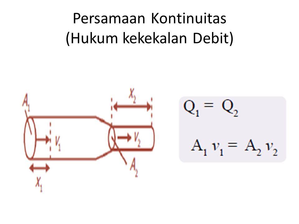 Persamaan Kontinuitas (Hukum kekekalan Debit)