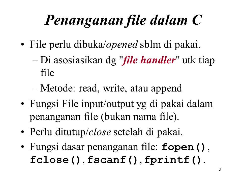 Penanganan file dalam C