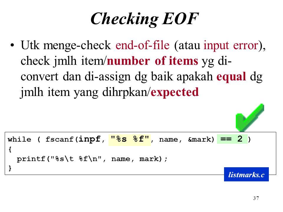 Checking EOF