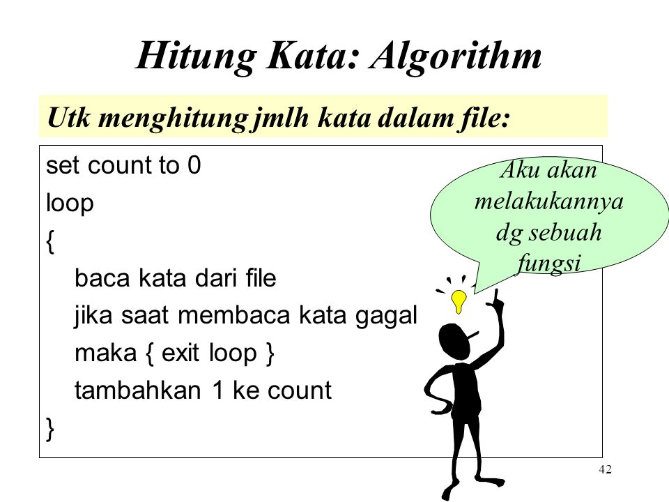 Hitung Kata: Algorithm