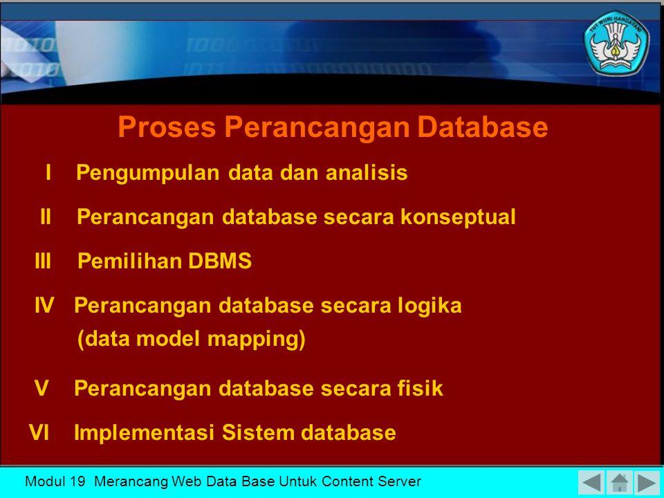 Proses Perancangan Database