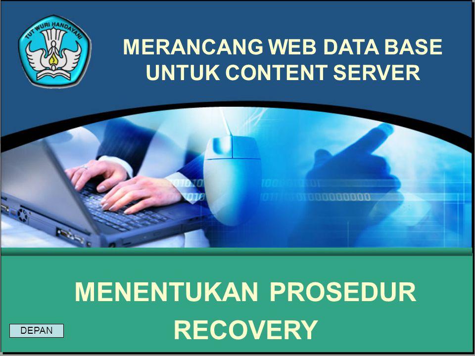 MERANCANG WEB DATA BASE UNTUK CONTENT SERVER