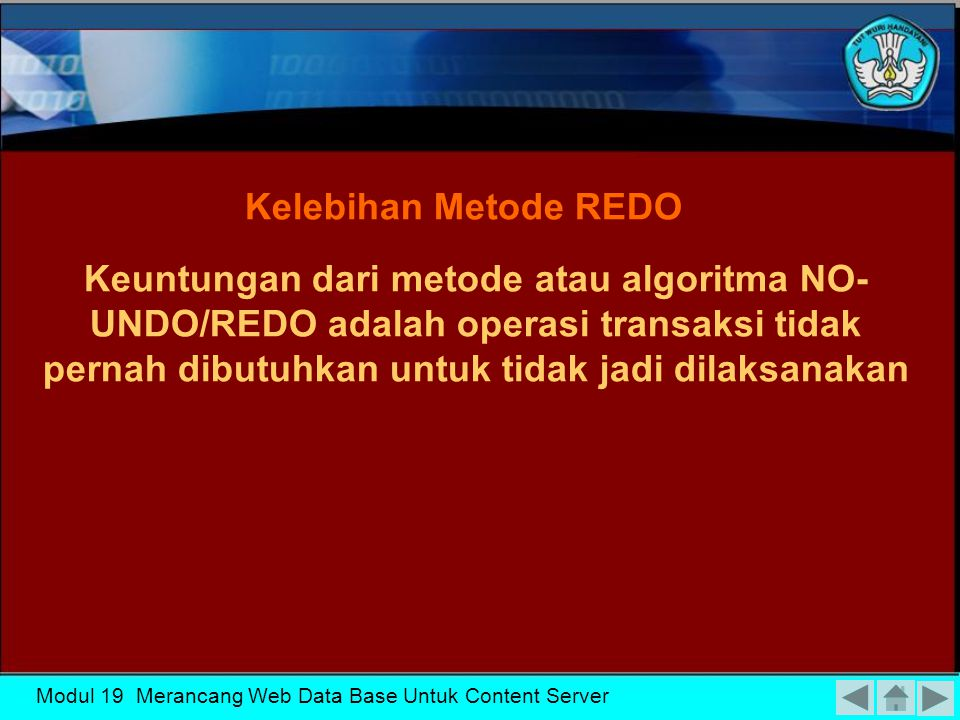 KK-19 Kelebihan Metode REDO.