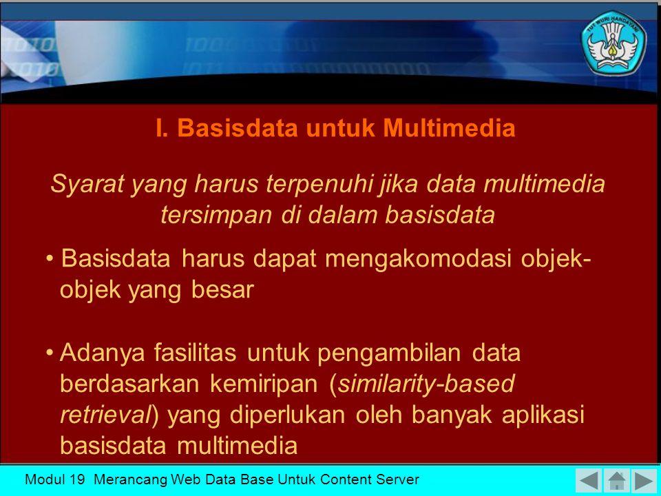 I. Basisdata untuk Multimedia