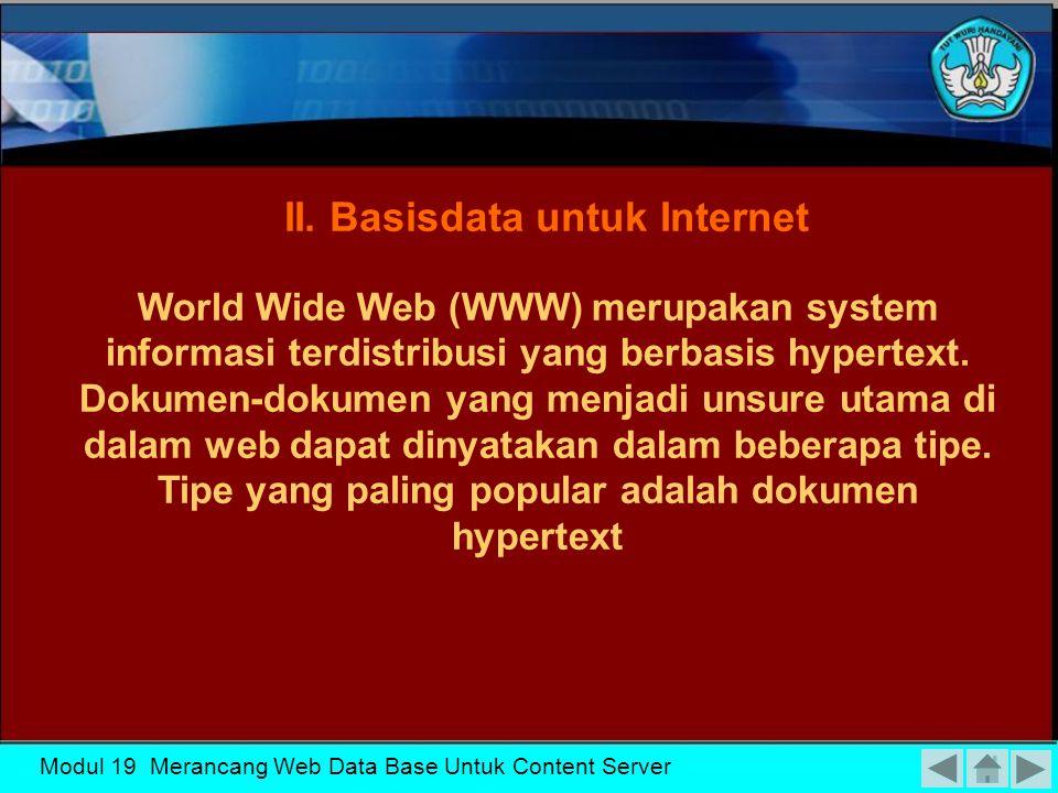 II. Basisdata untuk Internet