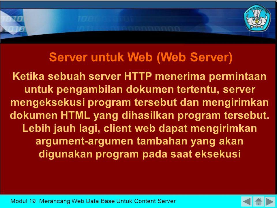 Server untuk Web (Web Server)