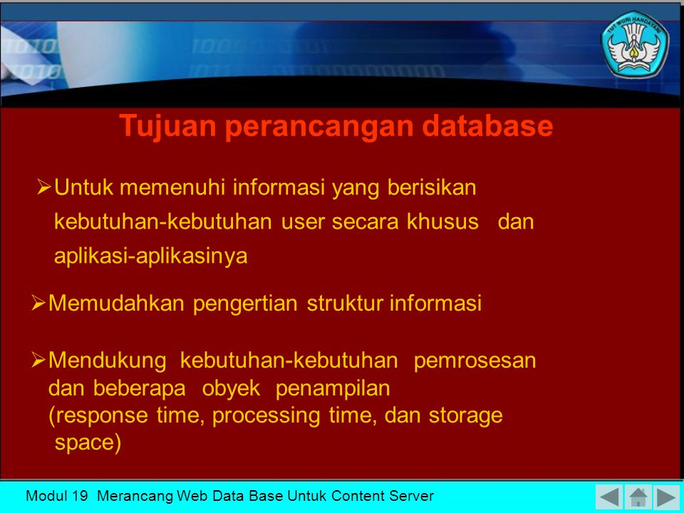 Tujuan perancangan database