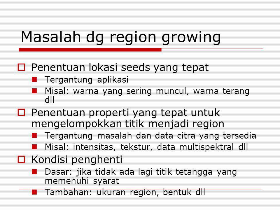Masalah dg region growing