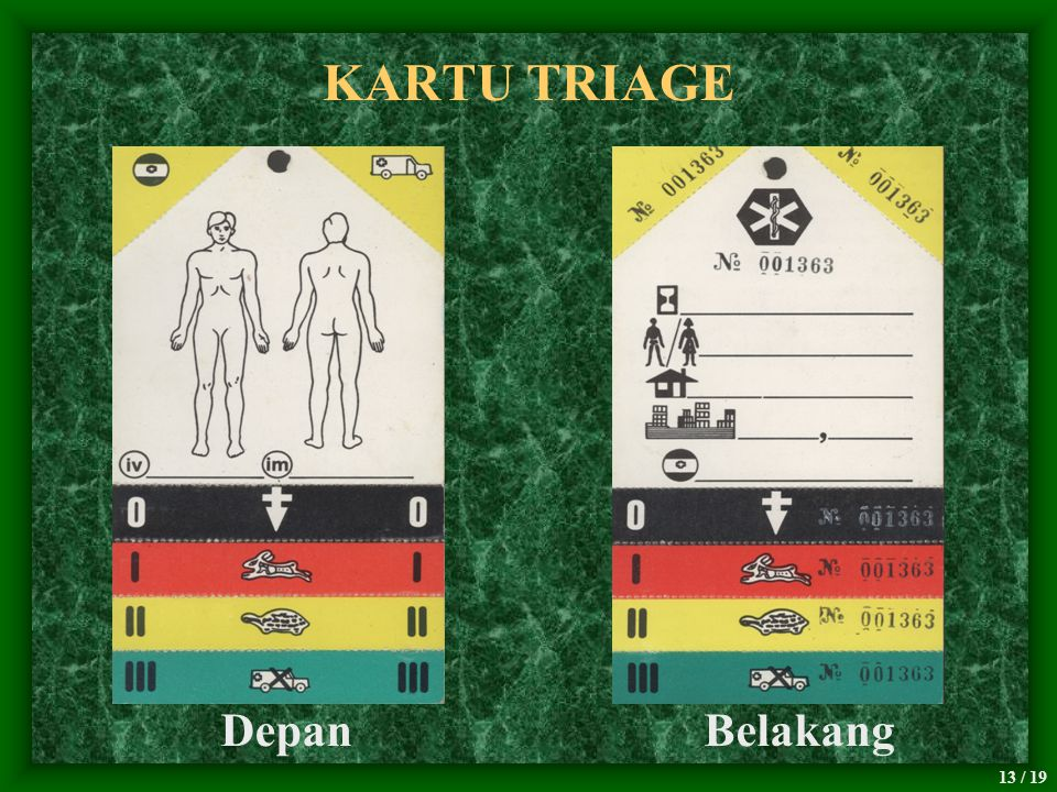 KARTU TRIAGE Depan Belakang