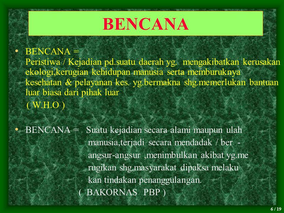 BENCANA