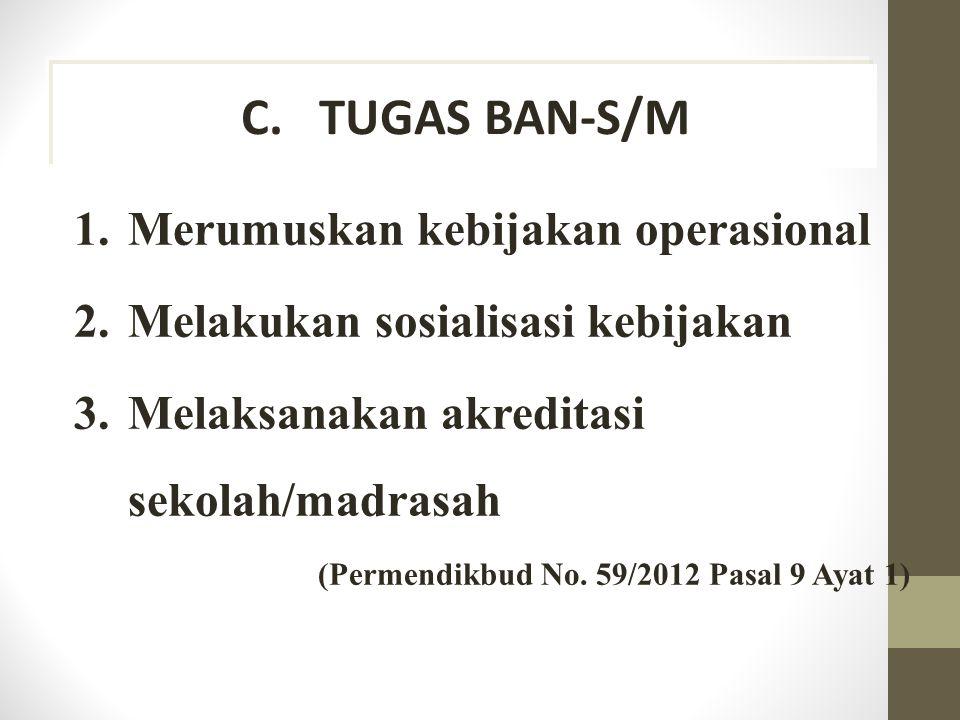 TUGAS BAN-S/M Merumuskan kebijakan operasional