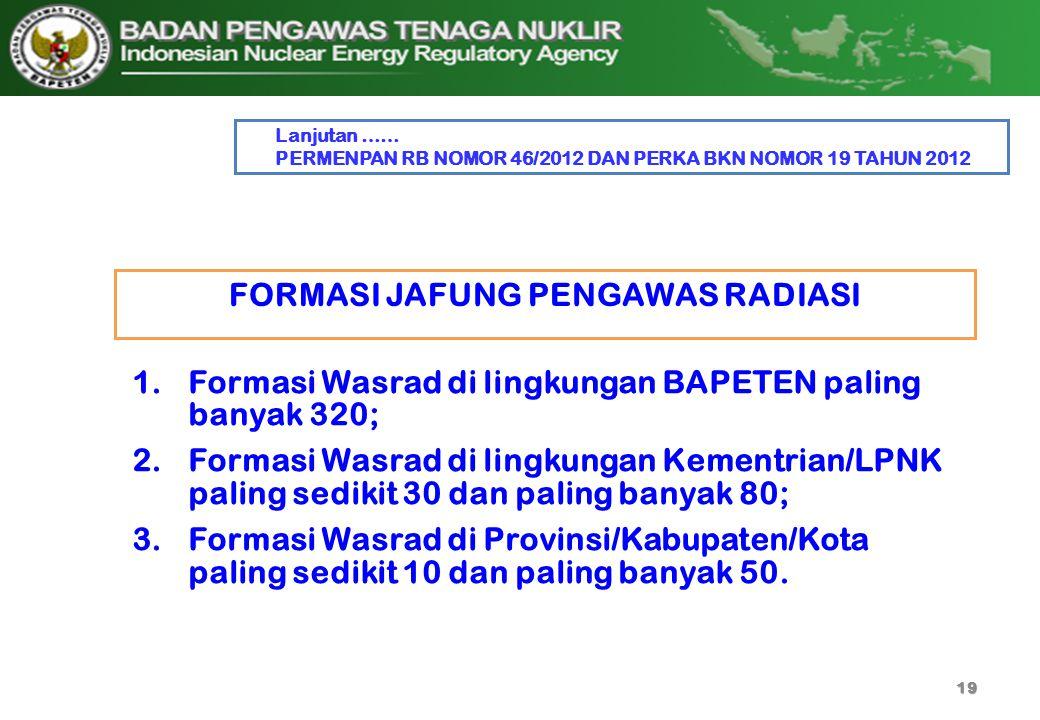 FORMASI JAFUNG PENGAWAS RADIASI