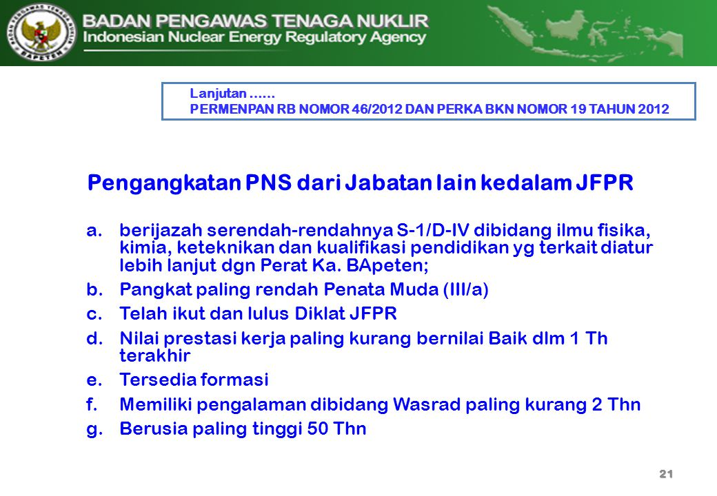 Pengangkatan PNS dari Jabatan lain kedalam JFPR