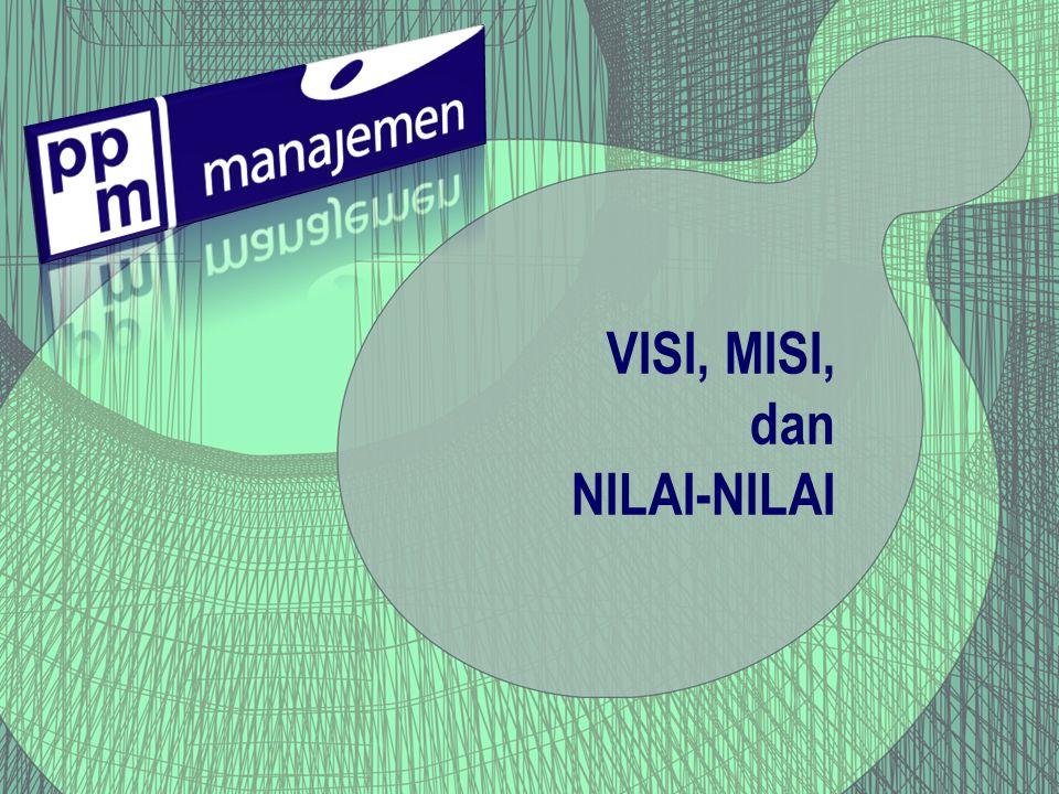 VISI, MISI, dan NILAI-NILAI
