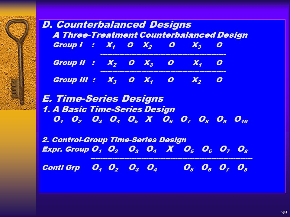 D. Counterbalanced Designs