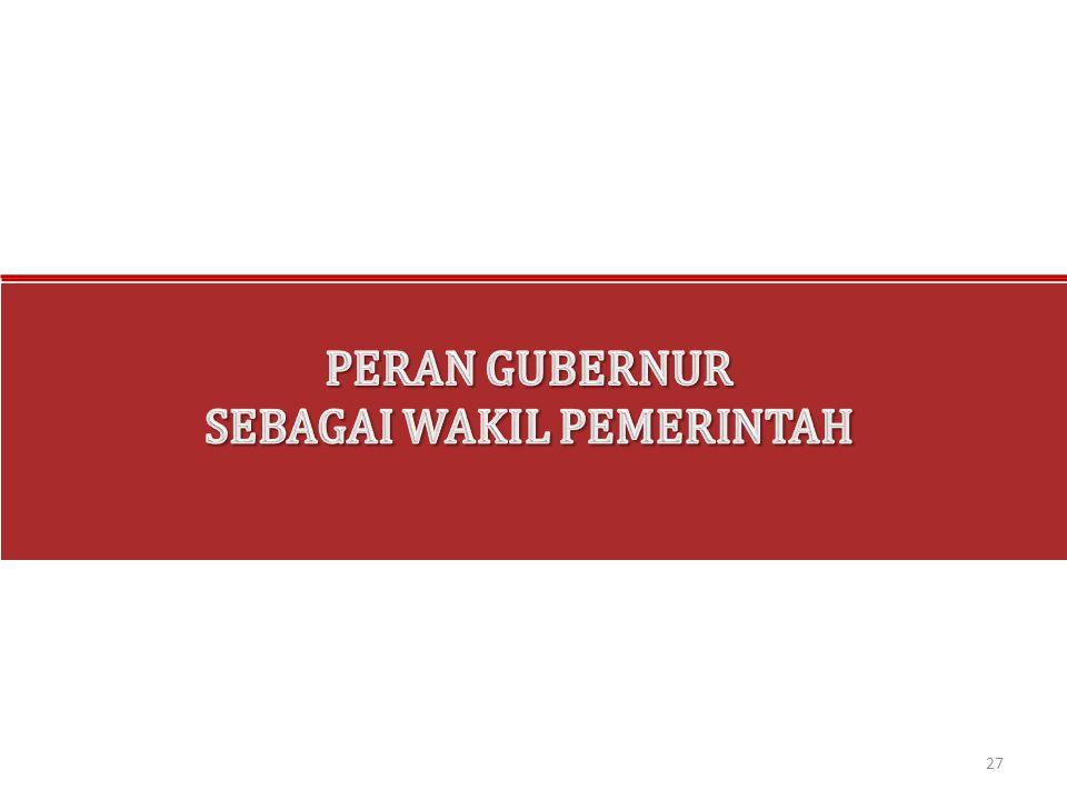 SEBAGAI WAKIL PEMERINTAH
