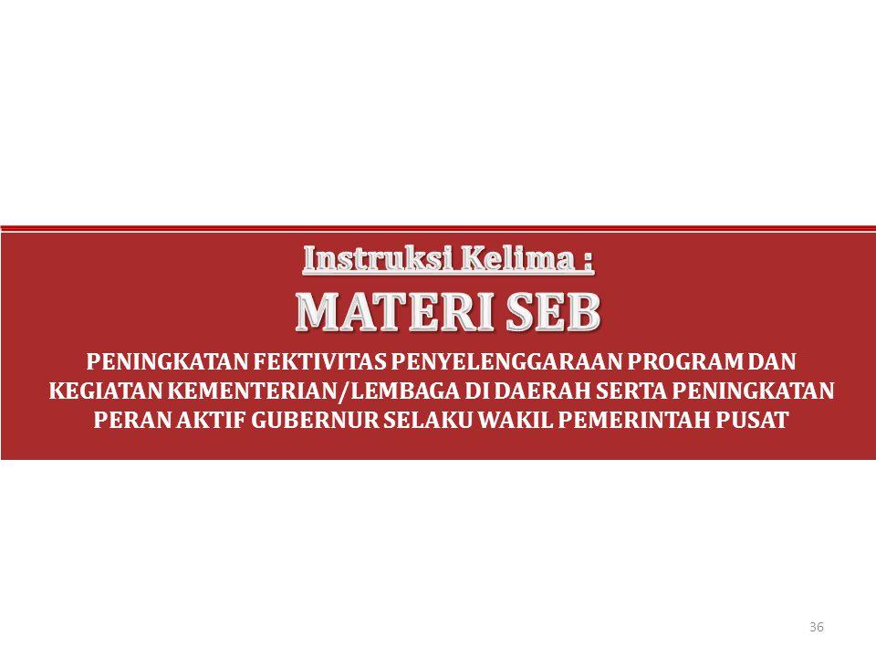 MATERI SEB Instruksi Kelima :