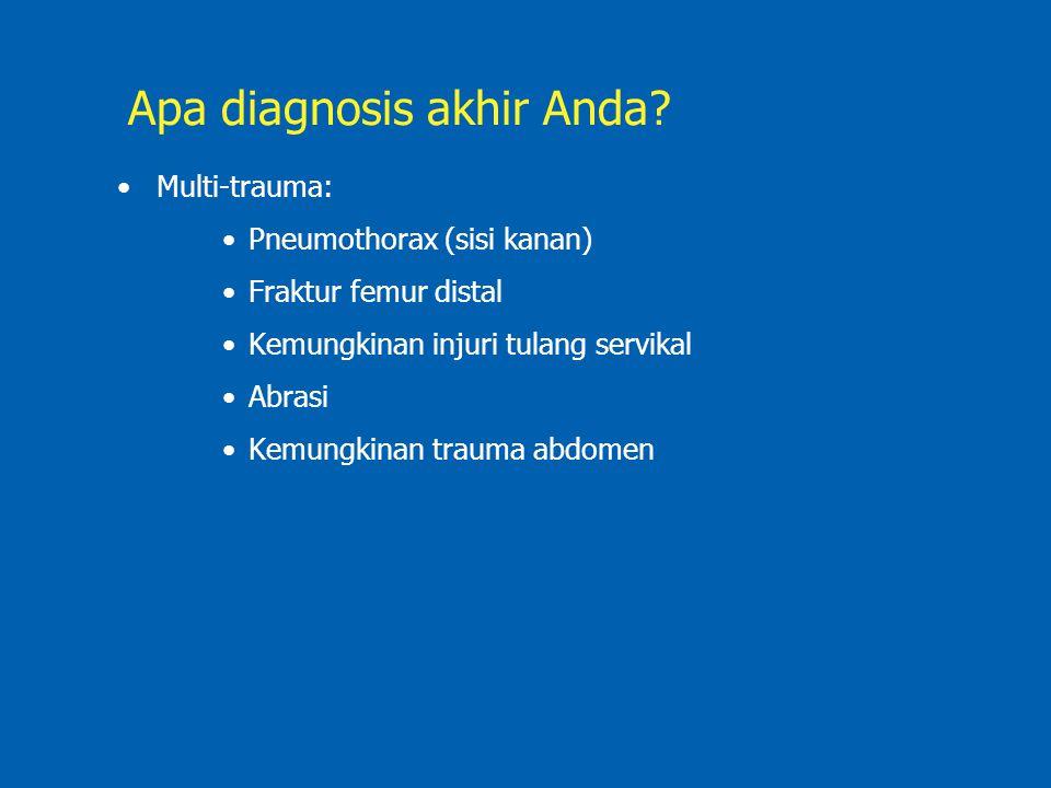 Apa diagnosis akhir Anda