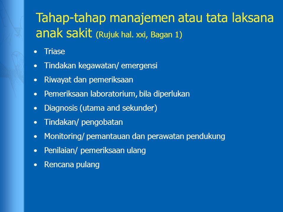 Tahap-tahap manajemen atau tata laksana anak sakit (Rujuk hal
