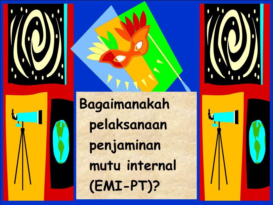 Bagaimanakah pelaksanaan penjaminan mutu internal (EMI-PT)