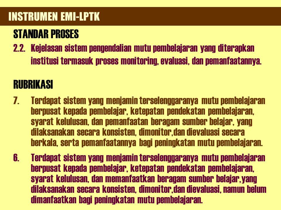 INSTRUMEN EMI-LPTK STANDAR PROSES.