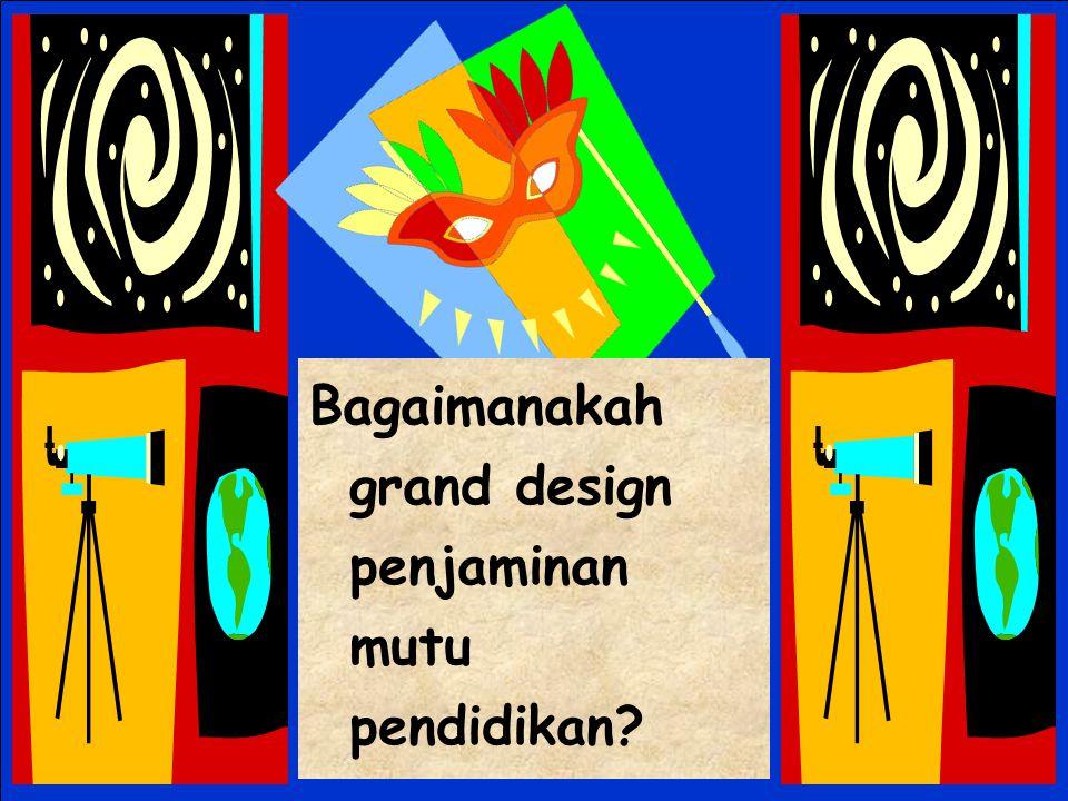 Bagaimanakah grand design penjaminan mutu pendidikan