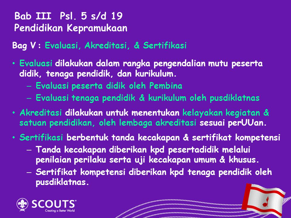 Bab III Psl. 5 s/d 19 Pendidikan Kepramukaan