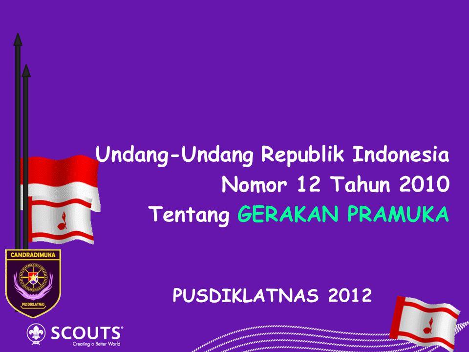 Undang-Undang Republik Indonesia Nomor 12 Tahun 2010
