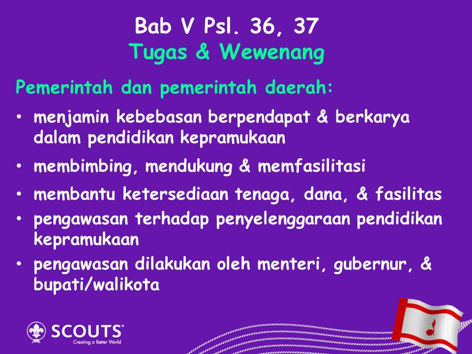 Bab V Psl. 36, 37 Tugas & Wewenang
